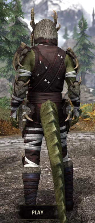 Ancestral Reach Light - Argonian Male Shirt Rear