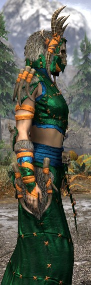 Ancestral Reach Light - Dyed Robe Close Side