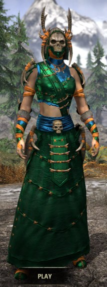 Ancestral Reach Light - Dyed Robe Front