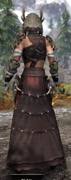 Ancestral Reach Light - Female Robe Rear