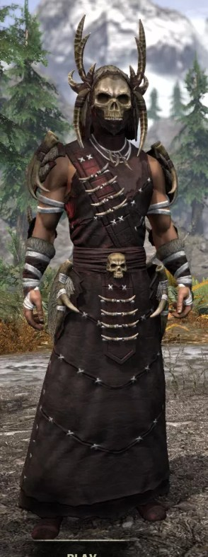 Ancestral Reach Light - Male Robe Front