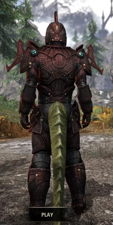 Arkthzand Armory Heavy - Argonian Male Rear