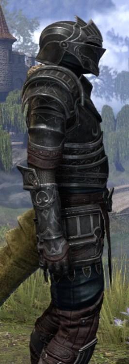Ebonsteel Knight - Argonian Male Close Side