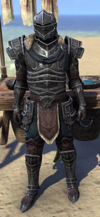 Ebonsteel Knight - Argonian Male Front