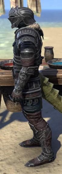 Ebonsteel Knight - Argonian Male Side