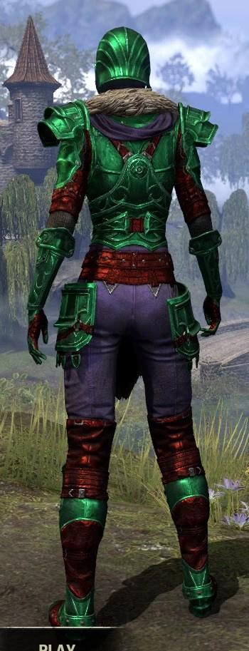 Ebonsteel Knight - Dyed Rear