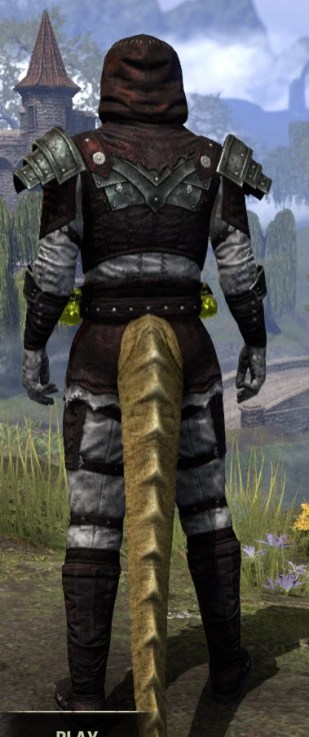 True-Sworn Heavy - Argonian Male Rear