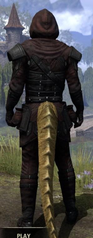 True-Sworn Light - Argonian Male Shirt Rear