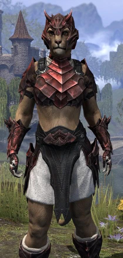 Waking Flame Heavy - Khajiit Female Close Front