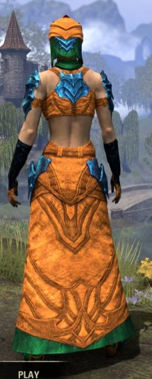 Waking Flame Light - Dyed Robe Rear
