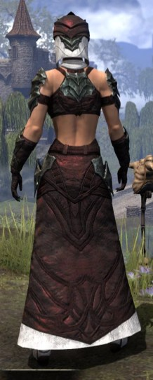 Waking Flame Light - Female Robe Rear