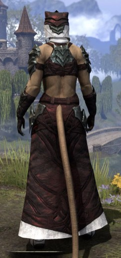 Waking Flame Light - Khajiit Female Robe Rear