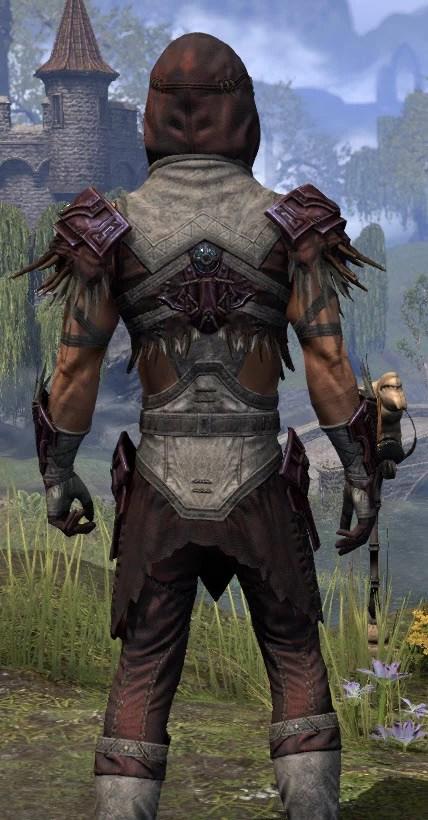 Wayward Guardian Ancestor Silk - Male Shirt Close Rear