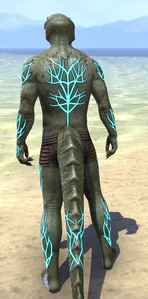 Blessed Life-Tree Body Markings - Argonian Male Rear