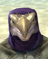 Courtly Crow Mask - Argonian Male Front