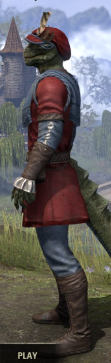 Day of Release Roister - Argonian Male Side
