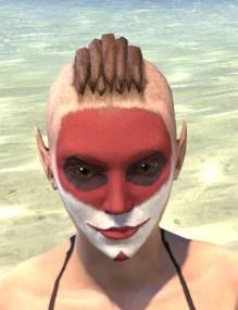 Raconteur Red Face Paint - Female Front
