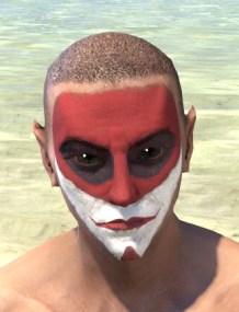 Raconteur Red Face Paint - Male Front