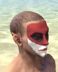 Raconteur Red Face Paint - Male Side