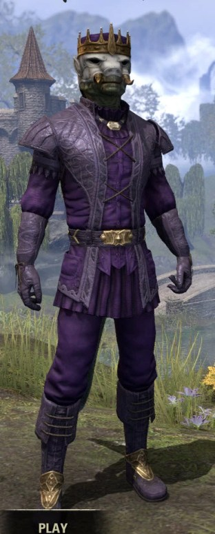 Regal Regalia - Argonian Male Front
