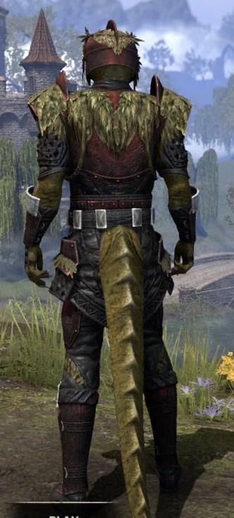 Black Fin Heavy - Argonian Male Rear