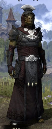 Ivory Brigade Light - Argonian Male Robe Front