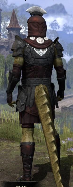 Ivory Brigade Light - Argonian Male Shirt Rear
