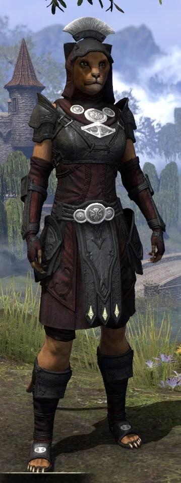 Ivory Brigade Light - Khajiit Female Shirt Front