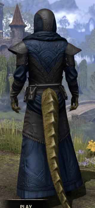 Nibenese Court Wizard - Argonian Male Rear