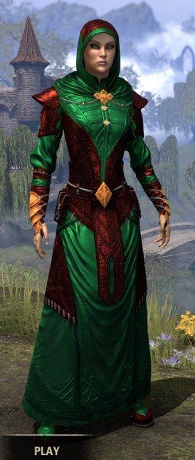 Nibenese Court Wizard - Dyed Front