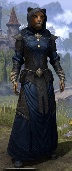Nibenese Court Wizard - Khajiit Female Front