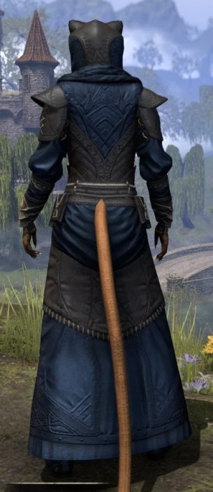 Nibenese Court Wizard - Khajiit Female Rear