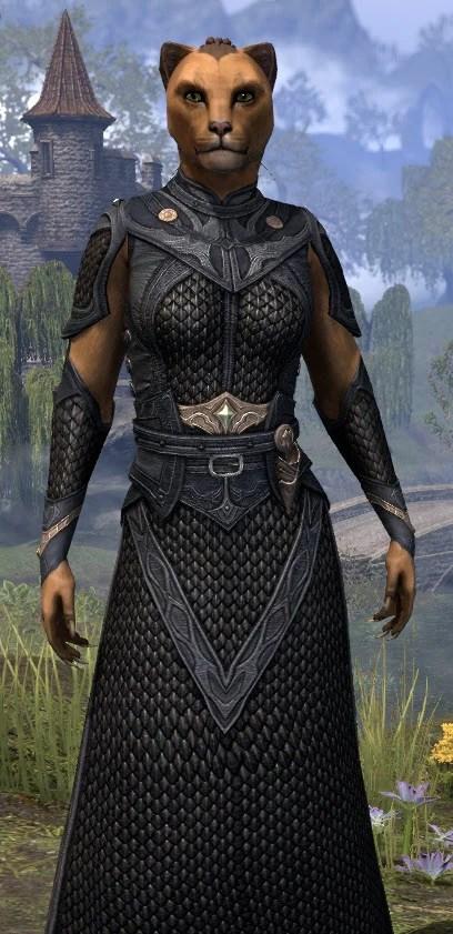 Thrafey Debutante Gown - Khajiit Female Close Front