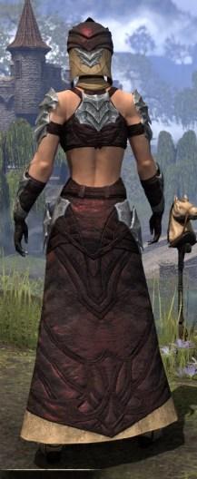 Waking Flame Ancestor Silk - Female Robe Rear