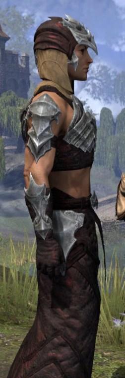 Waking Flame Ancestor Silk - Male Robe Close Side