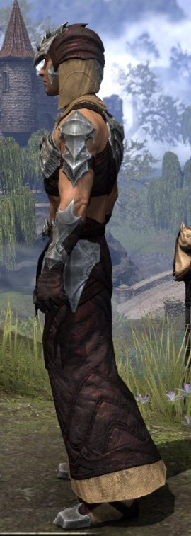 Waking Flame Ancestor Silk - Male Robe Side