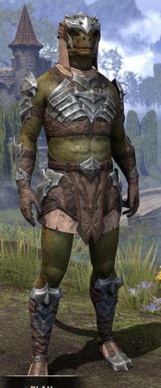 Waking Flame Homespun - Argonian Male Shirt Front