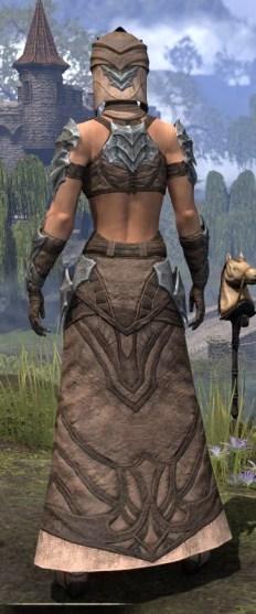 Waking Flame Homespun - Female Robe Rear