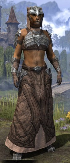 Waking Flame Homespun - Khajiit Female Robe Front
