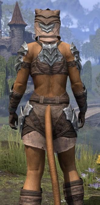 Waking Flame Homespun - Khajiit Female Shirt Close Rear