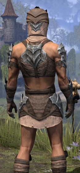 Waking Flame Homespun - Male Shirt Close Rear