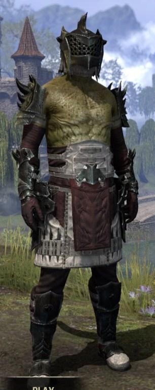 Crimson Oath Heavy - Argonian Male Front