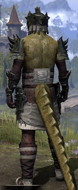 Crimson Oath Heavy - Argonian Male Rear