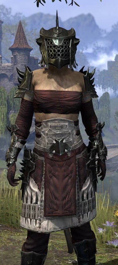 Crimson Oath Heavy - Khajiit Female Close Front