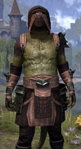 Crimson Oath Light - Argonian Male Shirt Close Front