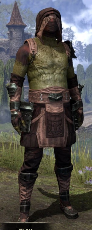 Crimson Oath Light - Argonian Male Shirt Front