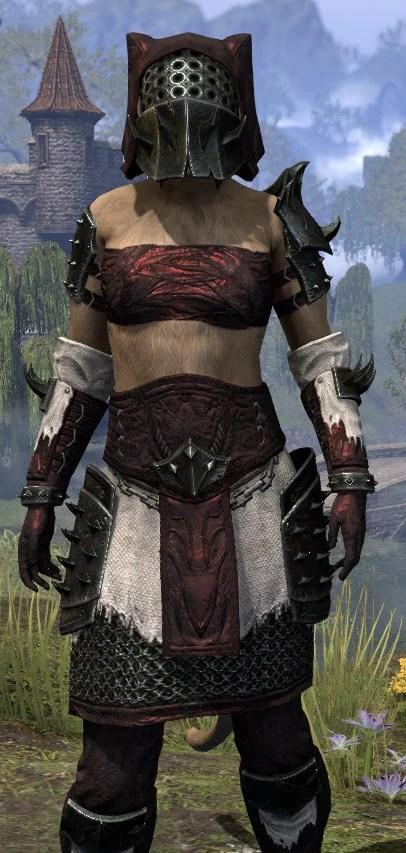Crimson Oath Medium - Khajiit Female Close Front