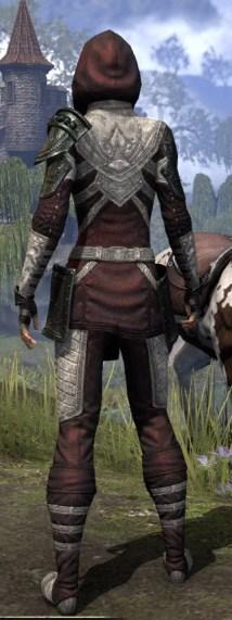 Silver Rose Light - Female Shirt Rear