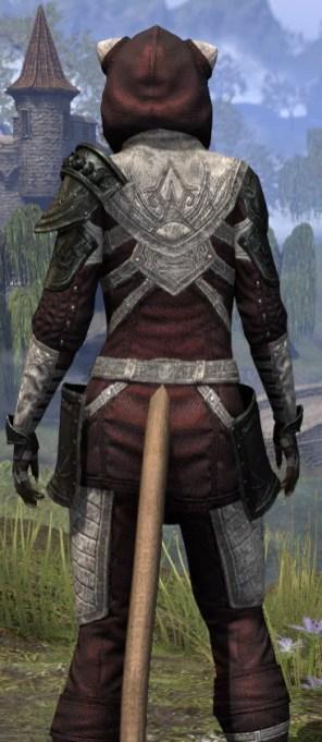 Silver Rose Light - Khajiit Female Shirt Close Rear
