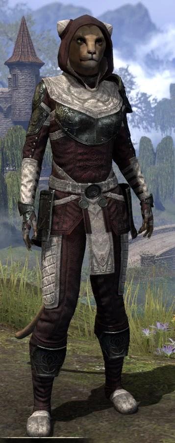 Silver Rose Light - Khajiit Female Shirt Front